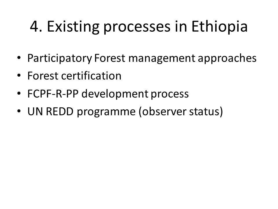 4. Existing processes in Ethiopia