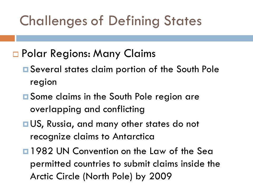 Challenges of Defining States
