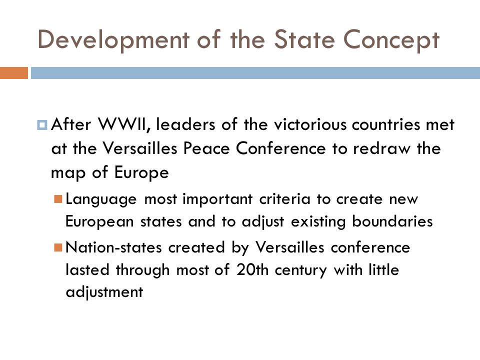 Development of the State Concept