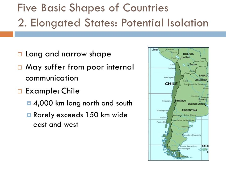 Five Basic Shapes of Countries 2. Elongated States: Potential Isolation