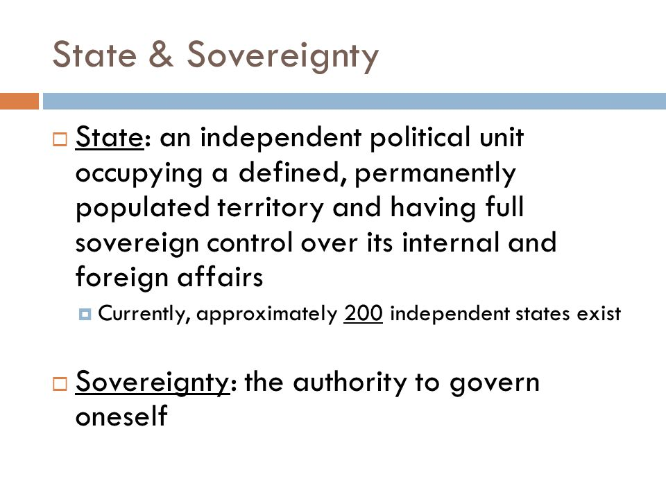 State & Sovereignty