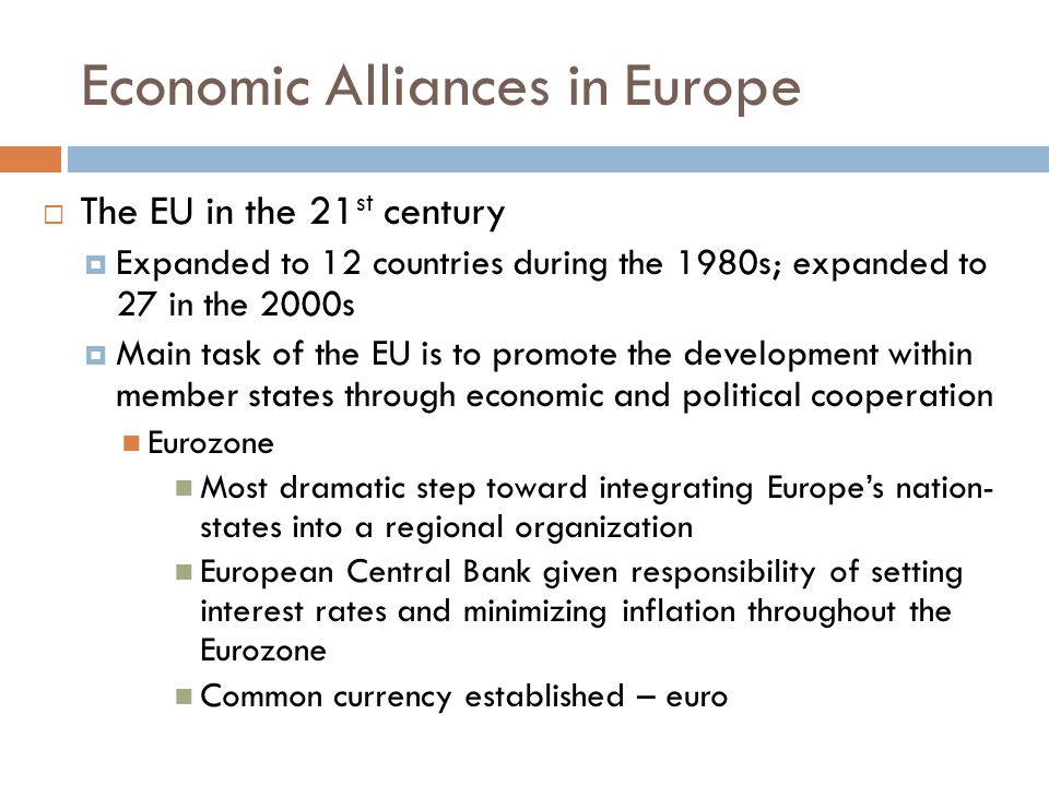 Economic Alliances in Europe