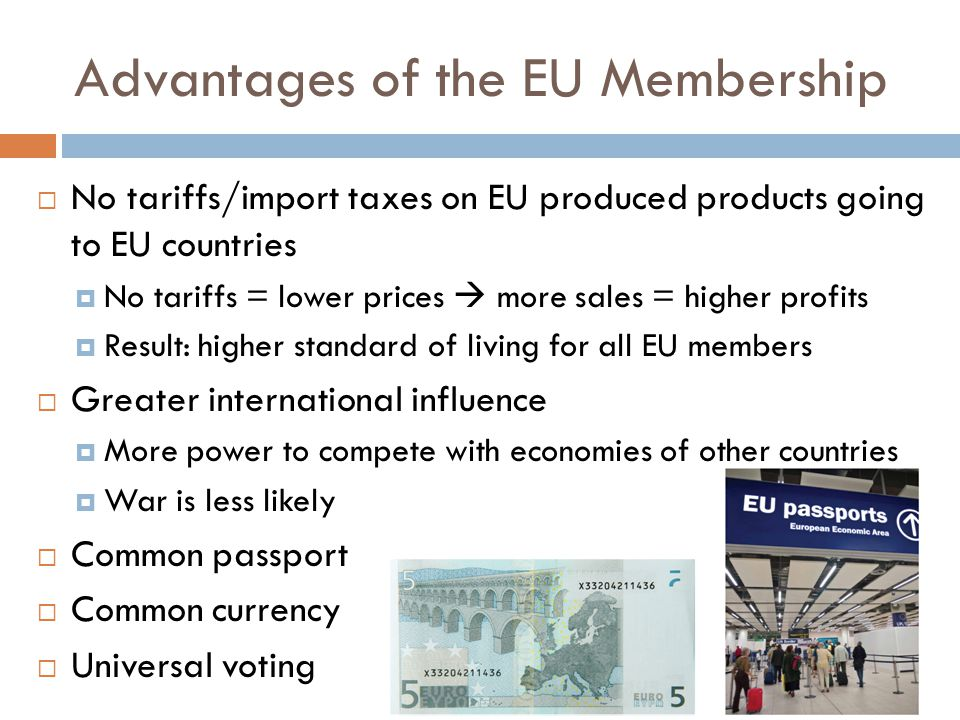 Advantages of the EU Membership
