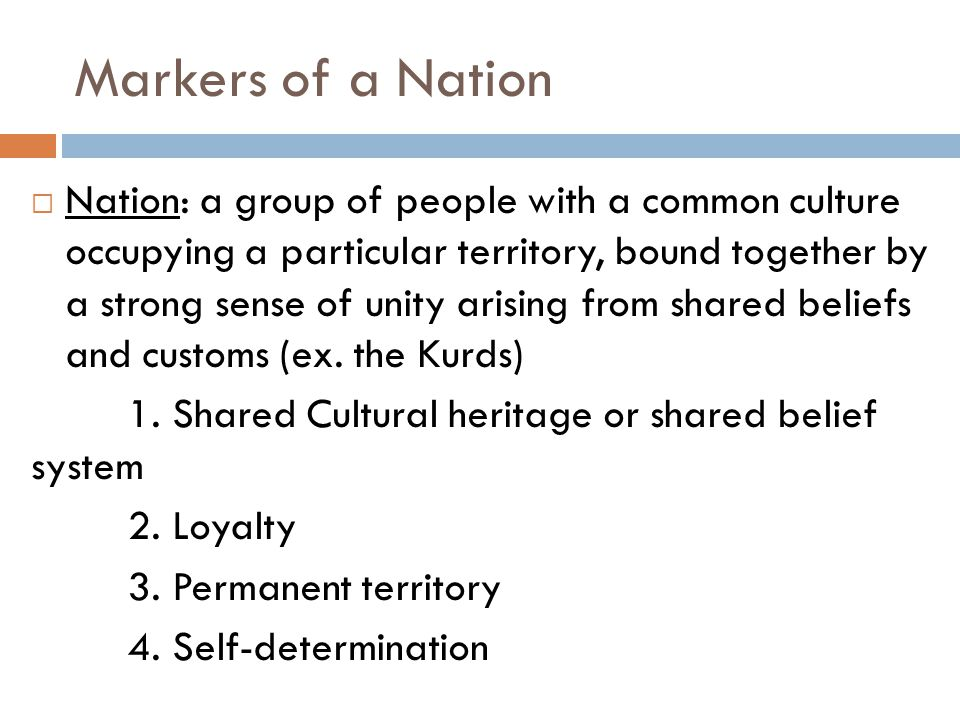 Markers of a Nation
