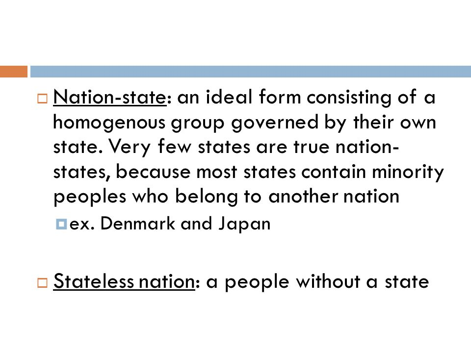 Stateless nation: a people without a state