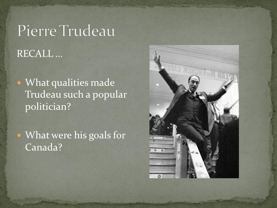 Pierre Trudeau RECALL …