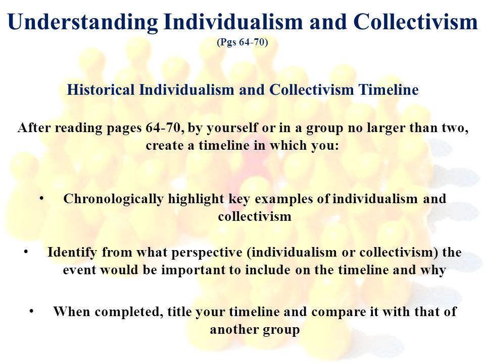 Understanding Individualism and Collectivism