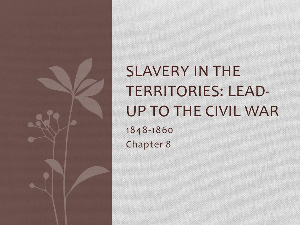 Slavery in the territories: Lead- up to the civil war