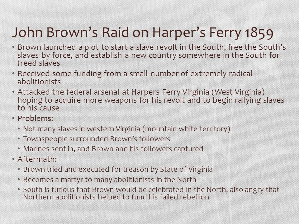 John Brown's Raid on Harper's Ferry 1859