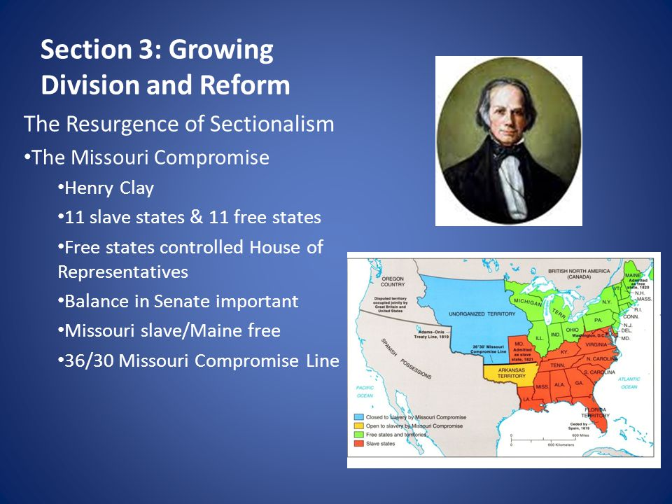 Section 3: Growing Division and Reform