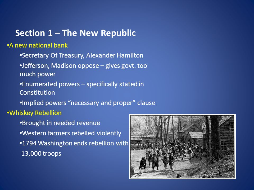 Section 1 – The New Republic