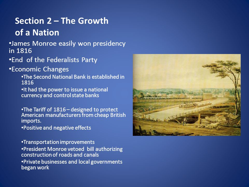 Section 2 – The Growth of a Nation