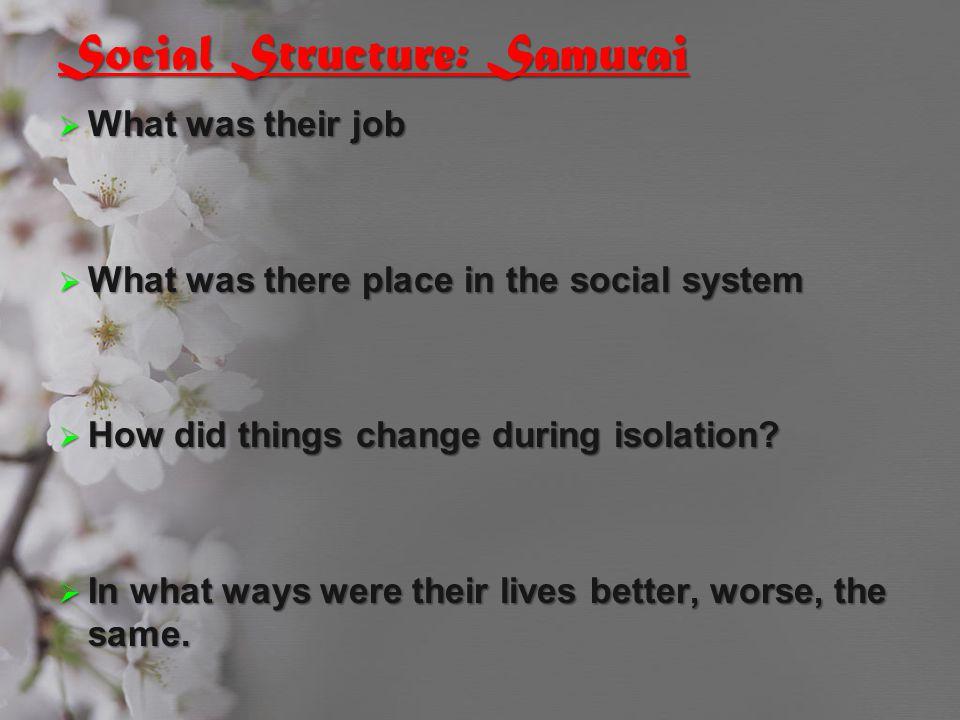 Social Structure: Samurai