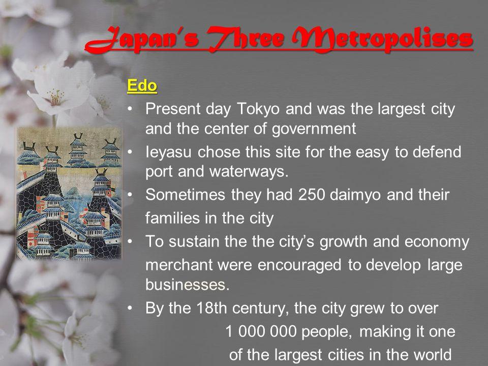 Japan's Three Metropolises