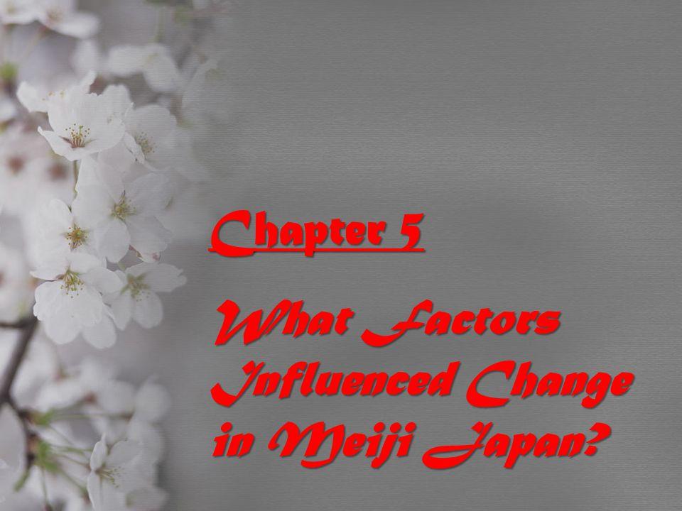 What Factors Influenced Change in Meiji Japan