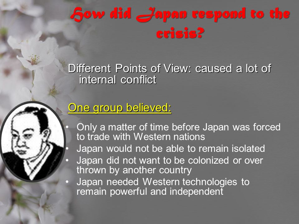 How did Japan respond to the crisis