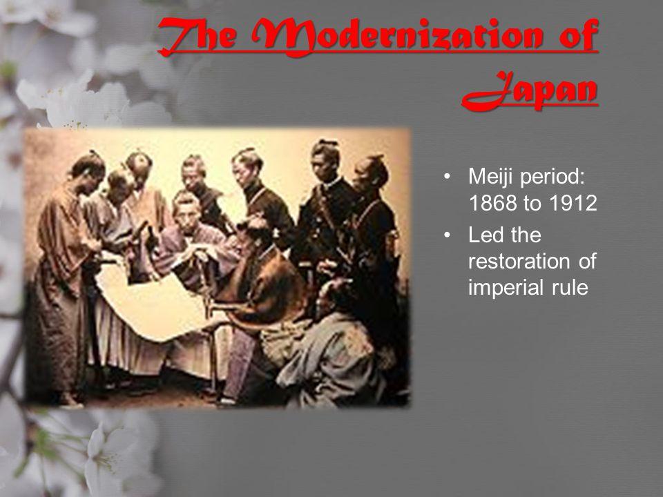 The Modernization of Japan