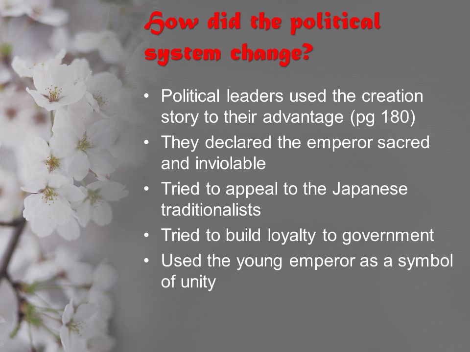 How did the political system change