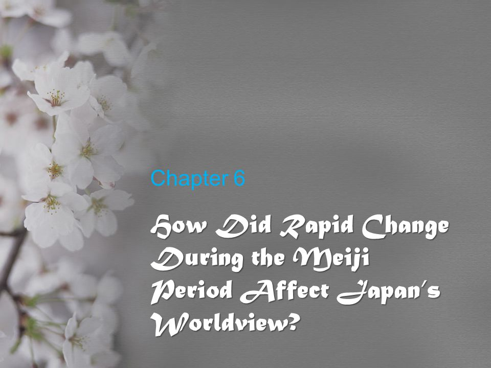 How Did Rapid Change During the Meiji Period Affect Japan's Worldview