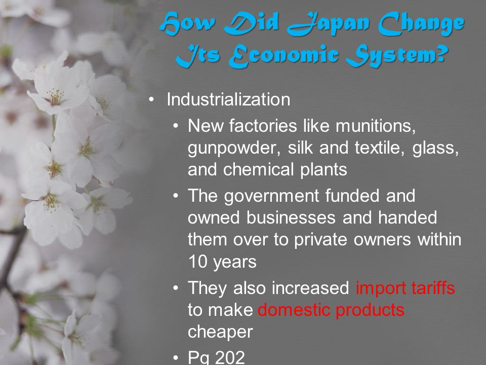 How Did Japan Change Its Economic System