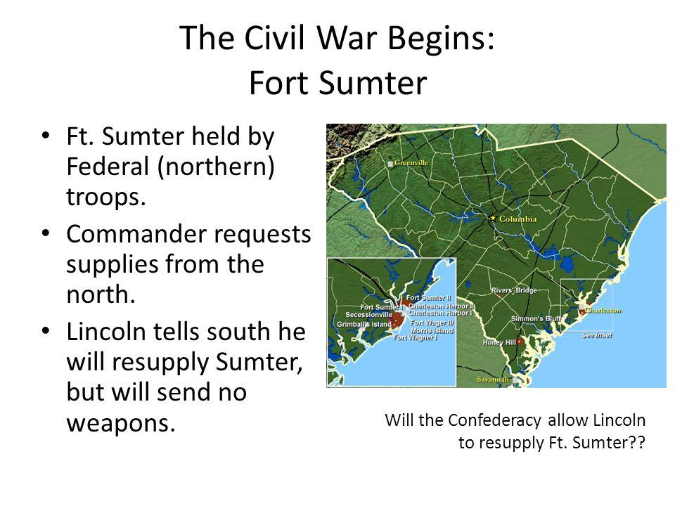 The Civil War Begins: Fort Sumter