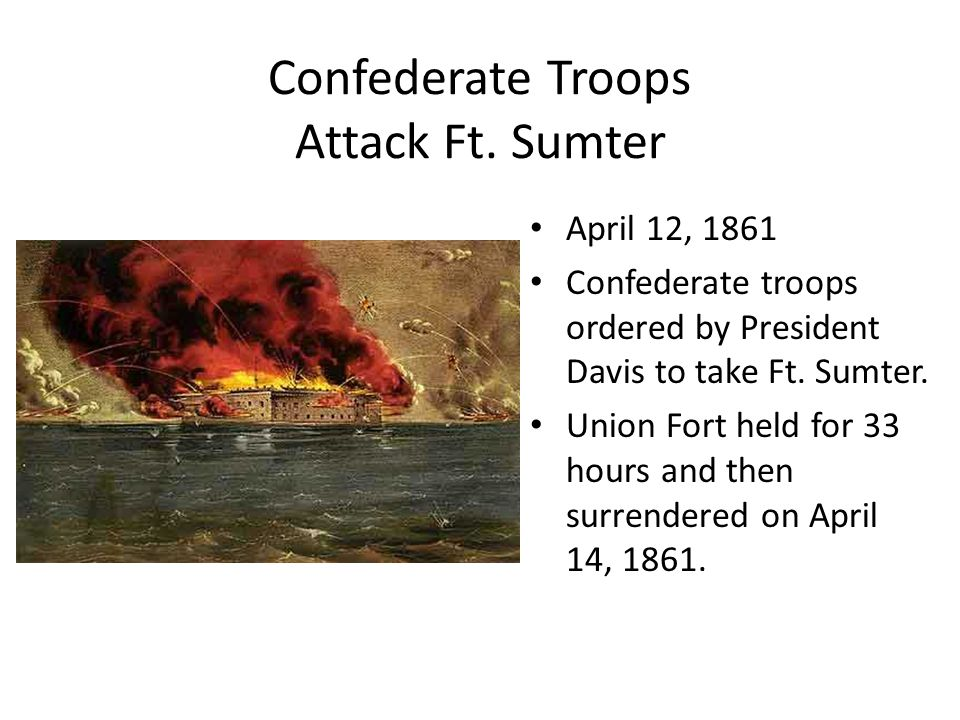 Confederate Troops Attack Ft. Sumter