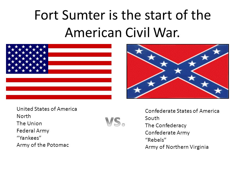 Fort Sumter is the start of the American Civil War.