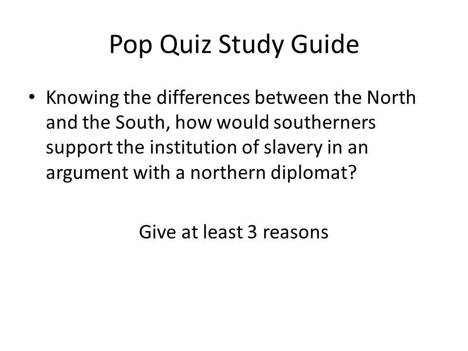 Pop Quiz Study Guide