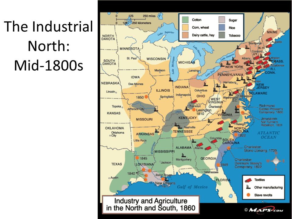 The Industrial North: Mid-1800s