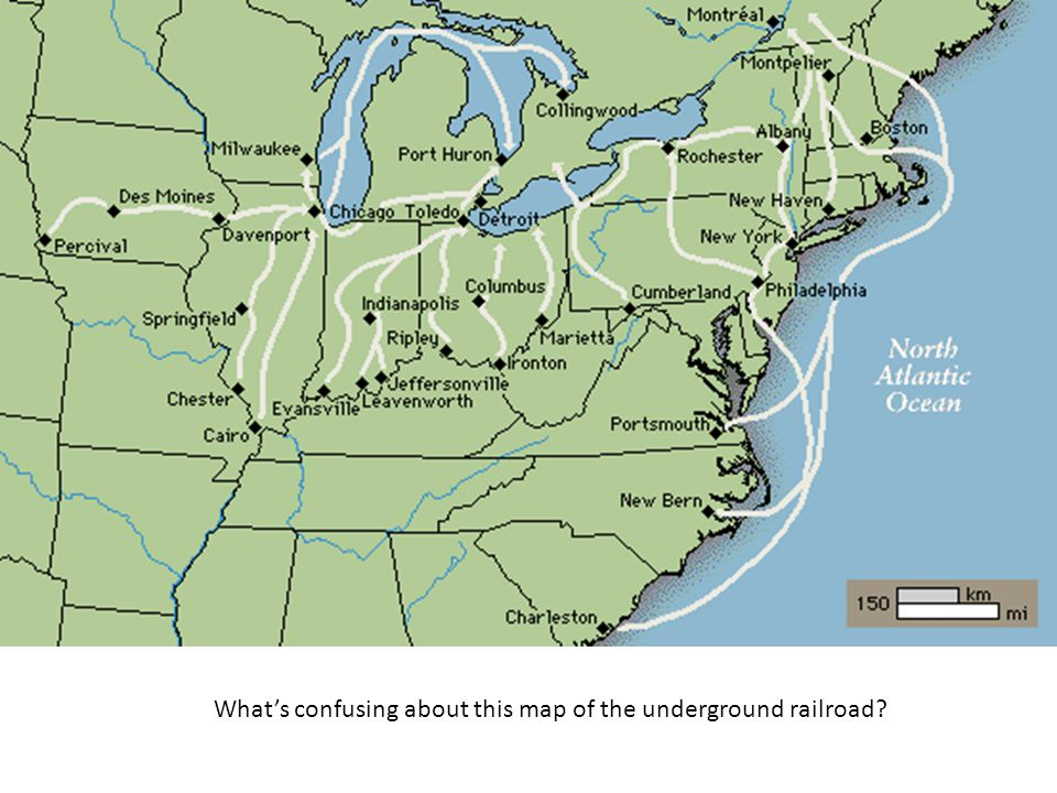 What's confusing about this map of the underground railroad