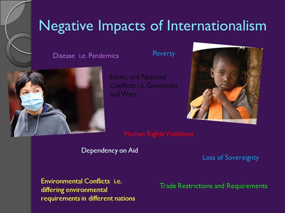 Negative Impacts of Internationalism