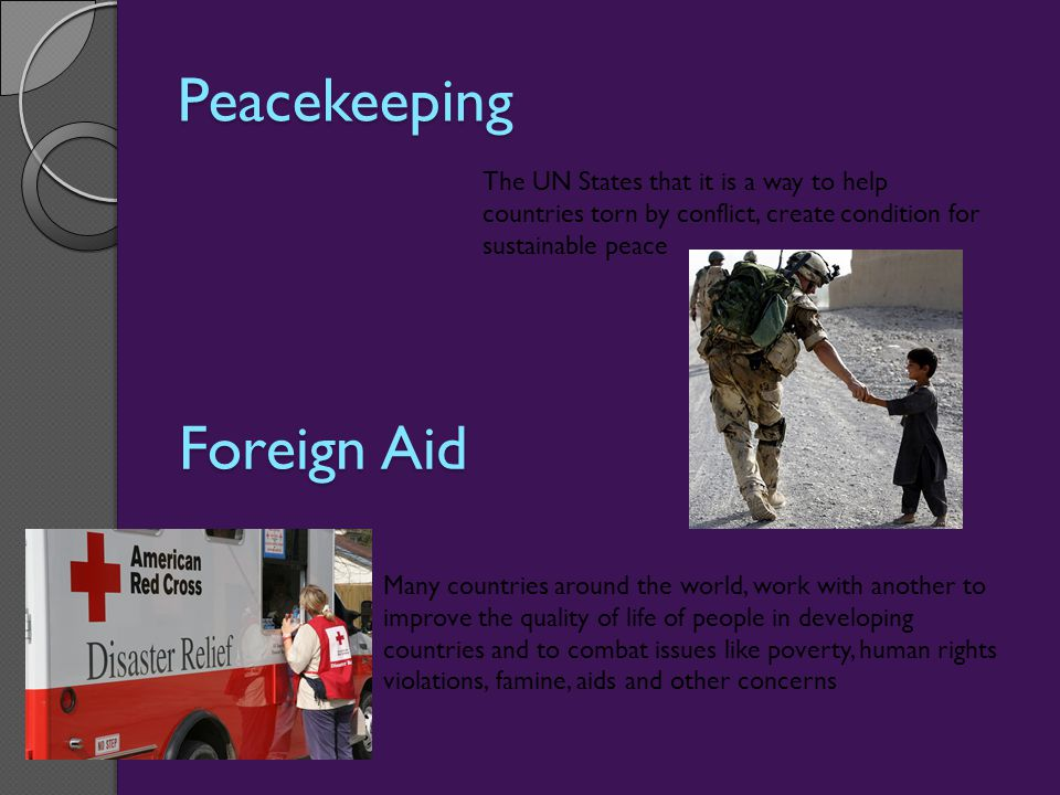 Peacekeeping Foreign Aid