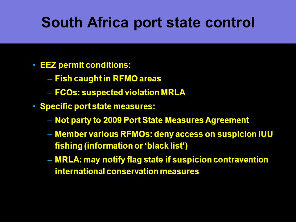 South Africa port state control