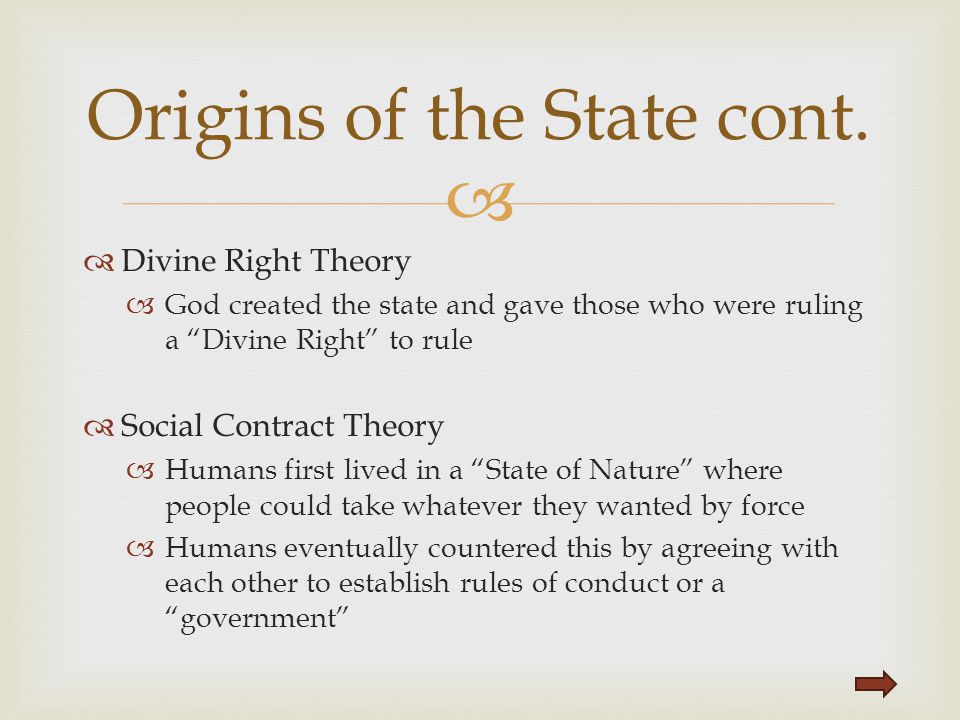Origins of the State cont.