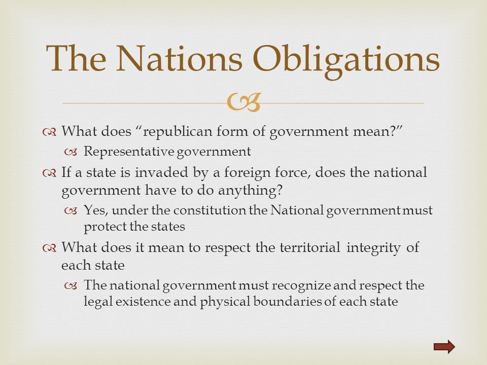The Nations Obligations