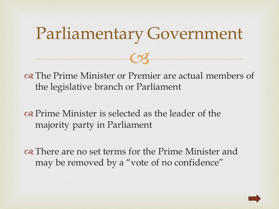 Parliamentary Government