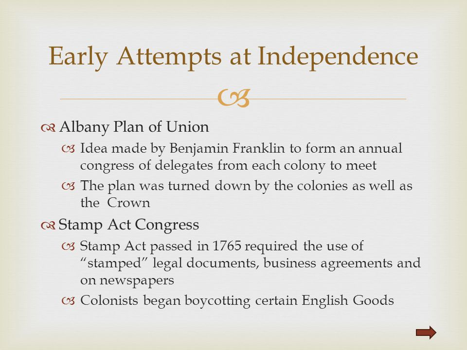 Early Attempts at Independence
