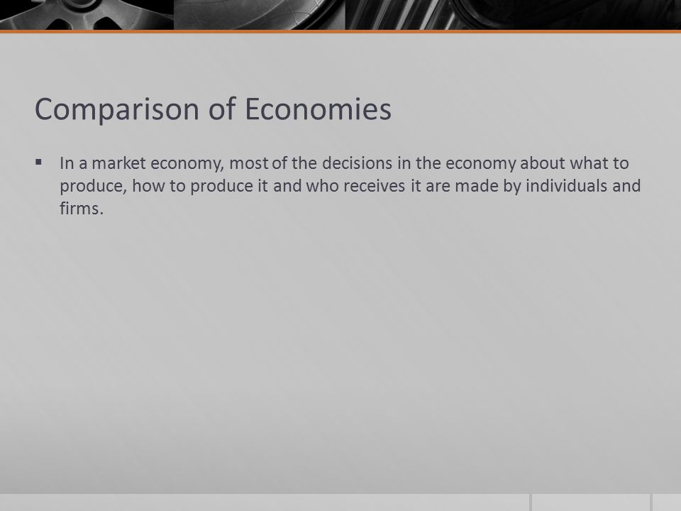 Comparison of Economies