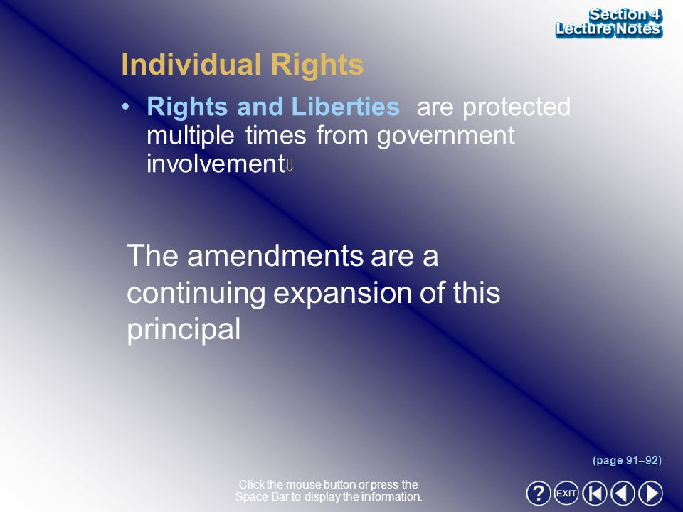 Section 4-11 Individual Rights