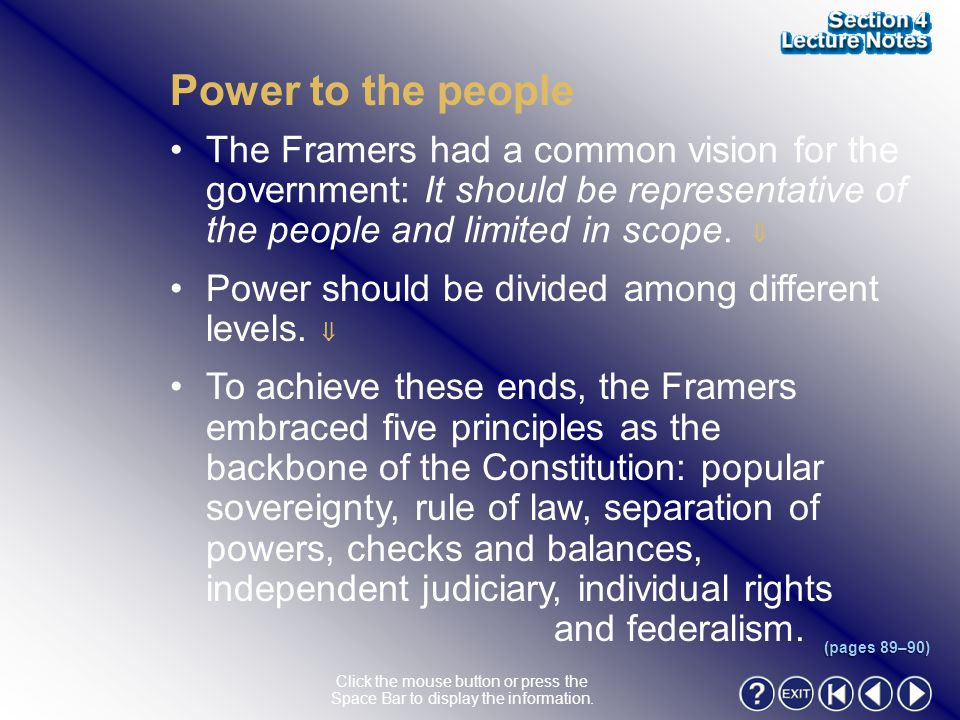 Section 4-4 Power to the people