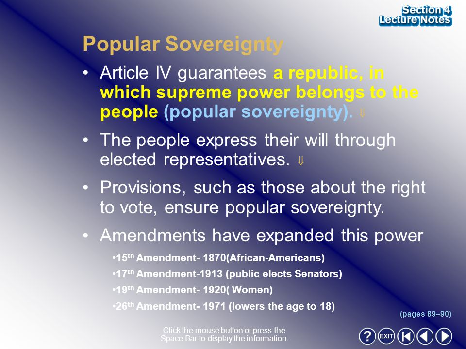 Section 4-5 Popular Sovereignty