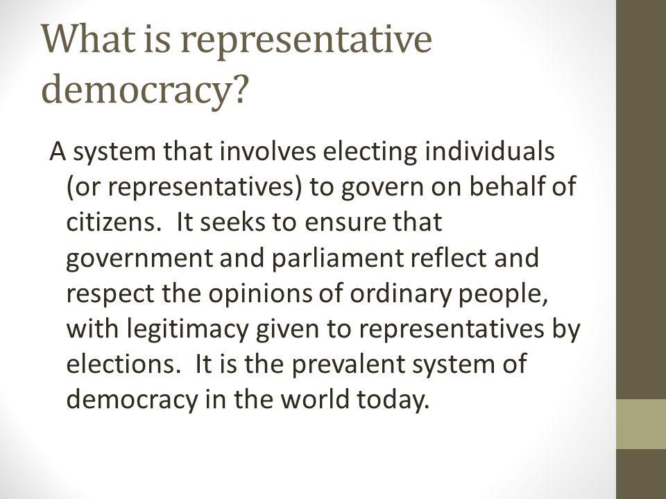 What is representative democracy