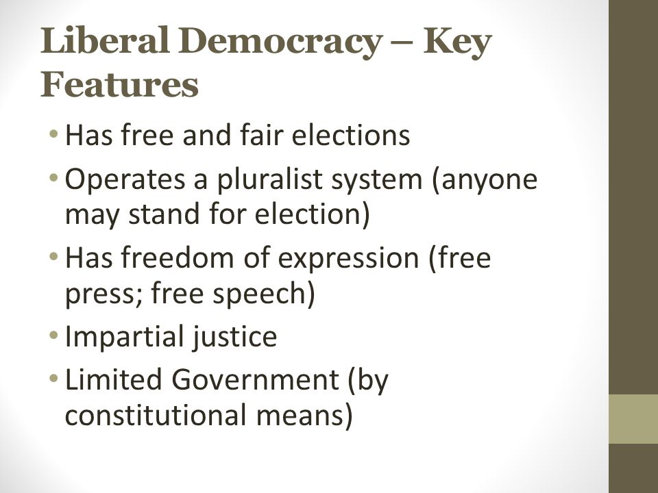 Liberal Democracy – Key Features