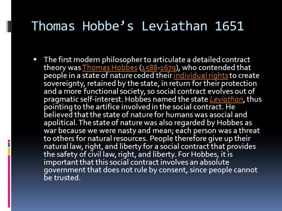Thomas Hobbe's Leviathan 1651
