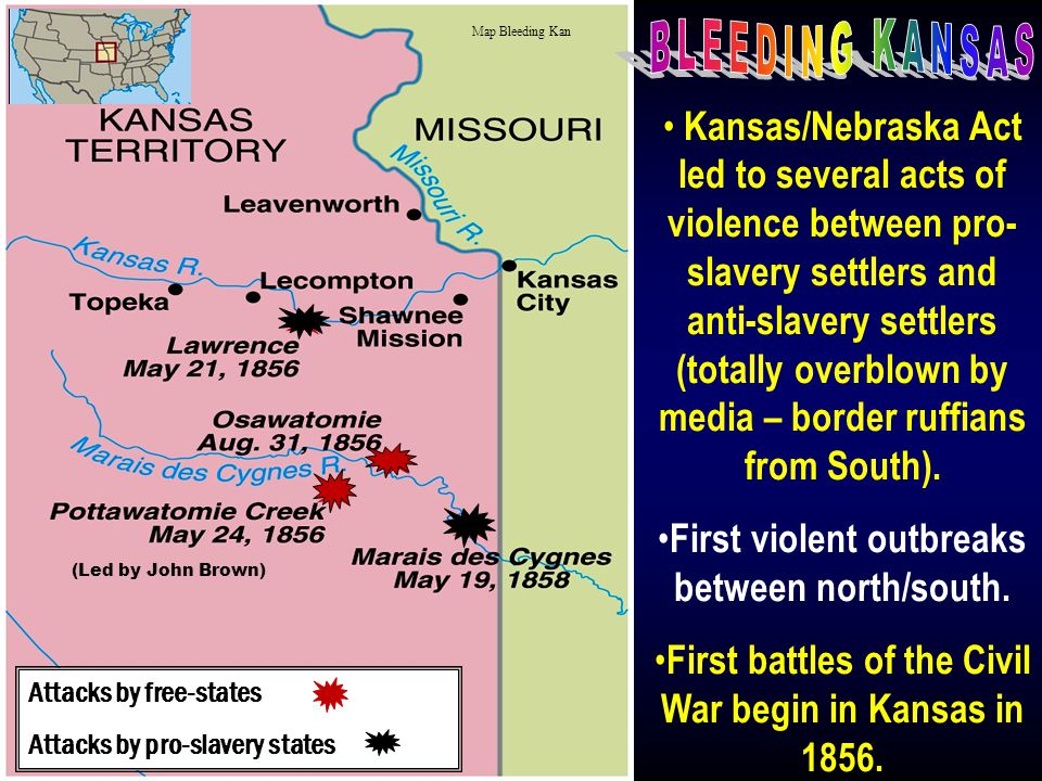 Map Bleeding Kan BLEEDING KANSAS.