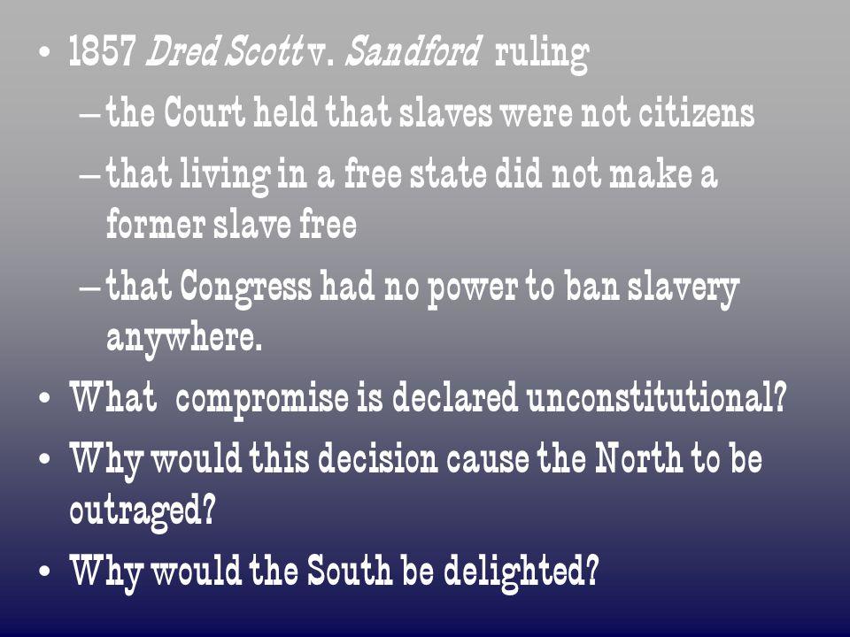 1857 Dred Scott v. Sandford ruling