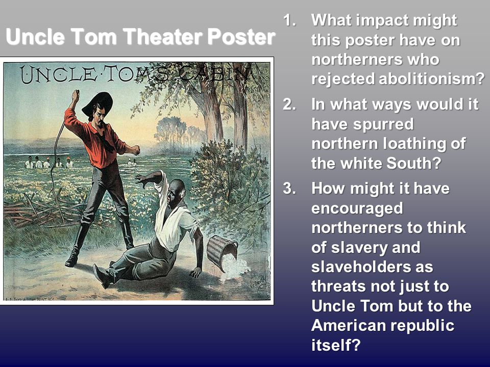 Uncle Tom Theater Poster
