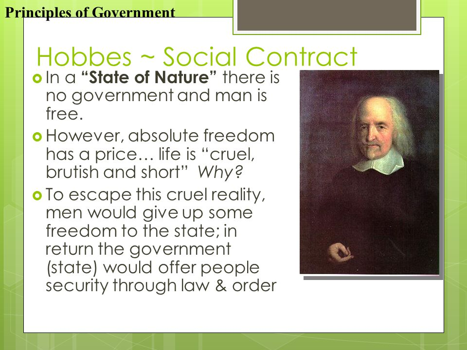 Hobbes ~ Social Contract