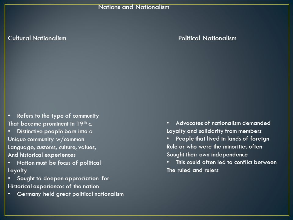 Nations and Nationalism