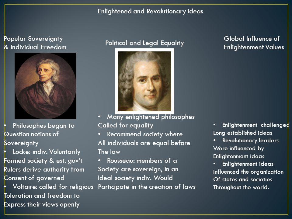 Enlightened and Revolutionary Ideas